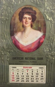 1908 American National Bank Calendar Pensacola, Florida
