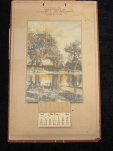 1920 First National Bank Calendar Gainesville, Florida