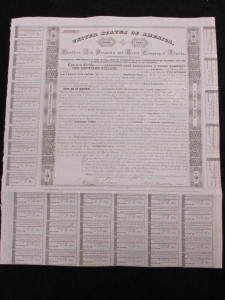 1839 United States of America Territory of Florida $1000 Bond Southern Life and Trust Company of Florida