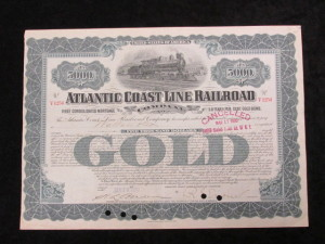 1930 Atlantic Coast Line Railroad $5000