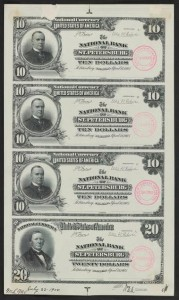 $10 & $20 Proof Note Sheet from Smithsonian Proof Project (Only Known Sheet)