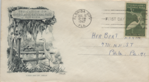 1947 Florida City Everglades National Park Dedication First Day of Issue
