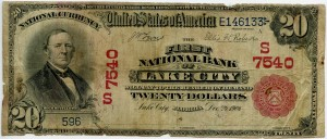 1902 Red Seal $20 Note Charter # 7540