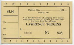 194_ Lawrence Wiggins $1 Unissued