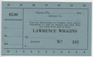 194_ Lawrence Wiggins $2 Unissued
