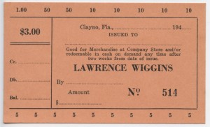 194_ Lawrence Wiggins $3 Unissued