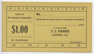 19__  J.C. Harris $1 Voucher Unissued