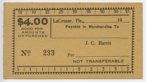 19__  J.C. Harris $4 Voucher Unissued