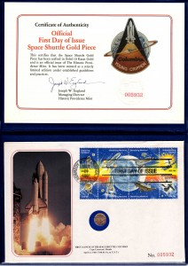 1981 First Day of Issue Space Shuttle Gold Piece