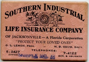 Southern Industrial Life Insurance Company of Jacksonville, FL.