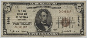 1929 Type 1 $5 Note