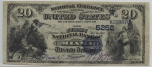 1882 DB $20 Note