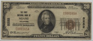 1929 Type 1 $20 Note