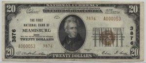 1929 Type 2 $20 Note