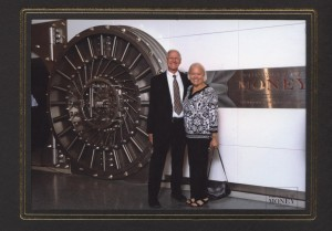 "Mr and Mrs. Youngerman at ""The Value of Money"" exhibit"