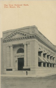 The First National Bank of Fort Myers Postcard