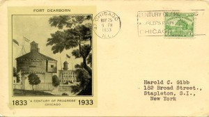 Fort Dearborn A Century of Progress 1833-1933 Postcard