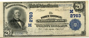 The Fort Dodge National Bank. 1902 Plain Back $20 Note Charter #2763M