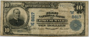 The First National Bank of Fort Sumner. 1902 Plain Back $10 Note Charter #8617